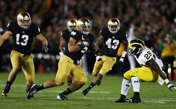 Te'o leads the NCAA for interceptions by a linebacker with five.
