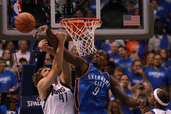 Eventually, someone will remember that Serge Ibaka can block shots.