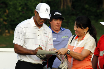 More of this won't hurt Tiger Woods with his fans.