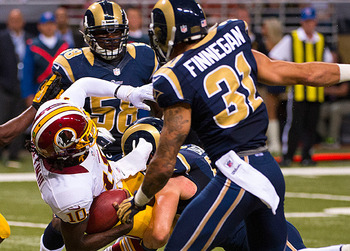 Rams corner Cortland Finnegan made life miserable for RGIII. (US Presswire)