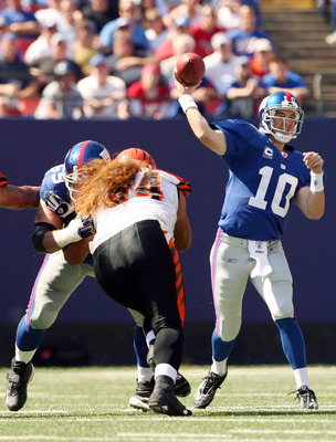 Eli Manning hopes to extend the Bengals' losing streak.