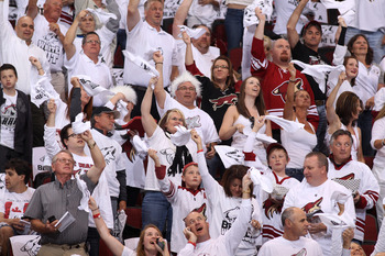 With the White Out, Phoenix has one of the coolest fan events in sports. Will the fans come back once the puck drops?