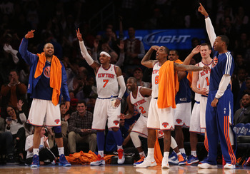 The Knicks celebrated plenty of threes on Nov. 2 in New York.