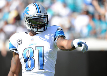Calvin Johnson is having a down year (48 catches for 767 yards and a touchdown), but he's still capable of torching defenses.