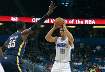 Gustavo Ayon playing against the Indiana Pacers during preseason.