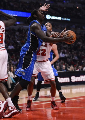 Andrew Nicholson attempts a layup against the Chicago Bulls.