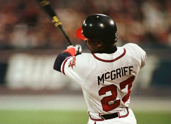 McGriff hit 130 home runs with Atlanta and was the All-Star Game MVP in 1994.