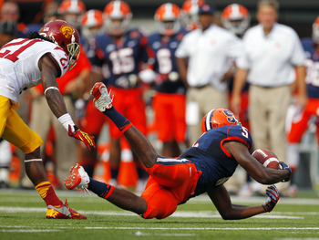 USC's defense chased Syracuse around the field for 87 plays.