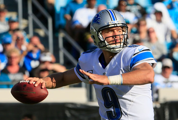 Lions QB Matthew Stafford getting ready to throw against the Jaguars.