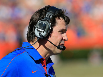 Will Muschamp has his Gators in first place in the SEC East at 8-1