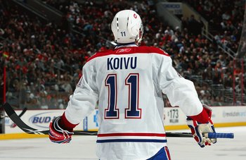 Saku Koivu of the Montreal Canadiens.