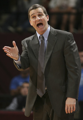 Jan 17, 2012; Tallahassee, FL, USA; Maryland Terrapins head coach Mark Turgeon reacts in the second half of their game against the Florida State Seminoles at the Donald L. Tucker Center. Florida State won 84-70. Mandatory Credit: Phil Sears-US PRESSWIRE