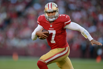 Colin Kaepernick again showed his best skill is running with the football.