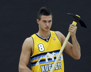 For some reason, Gallinari is bringing back the faux hawk.