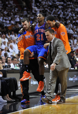 Knicks guard Iman Shumpert suffered an injury to his left knee last season and has been recovering since.