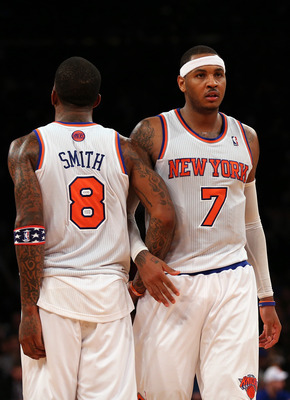 New York's two leading scorers, J.R. Smith and Carmelo Anthony.