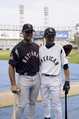 Pujols and Ichiro at the 2003 All-Star Game