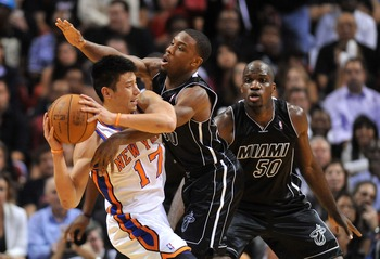 Everywhere Lin went, he found an unfriendly Heat face.