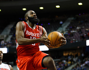 Harden has found the transition to starter, and star, easy so far.