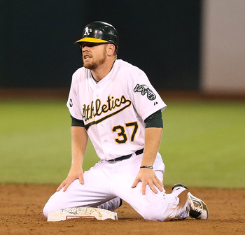 Brandon Moss hit for a career-high 21 home runs in 2012.