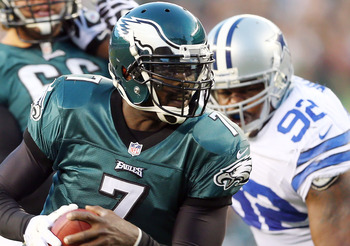 Vick was knocked from Sunday's game with a concussion and may not play in Week 11.