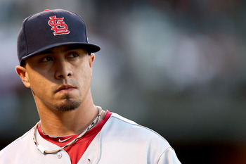 Kyle Lohse shows disappointment after struggling in lone World Series start.