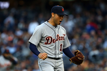 Anibal Sanchez threw a seven-inning gem at Yankee Stadium in the 2012 ALCS.