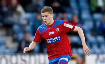 Alfred Finnbogason, pictured with Helsingborgs IF, has been a bright spot