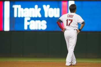 Possibly Choo's last game in a Cleveland uniform on Oct. 3.