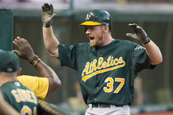 August 28—Brandon Moss is fired up.