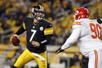 Roethlisberger suffered a shoulder injury in a close loss to the Kansas City Chiefs