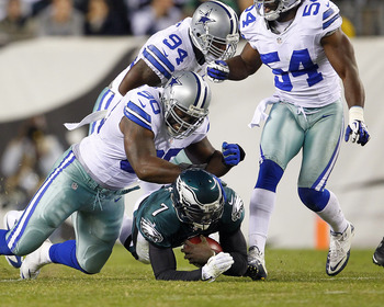 Vick suffered a concussion at the hands of the Cowboys to add to the Eagles woes.