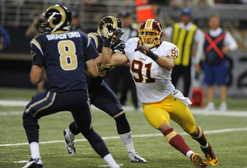 Ryan Kerrigan can use some help with getting after quarterbacks.
