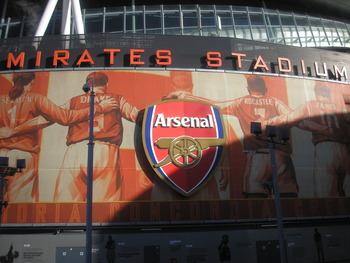 One of the player panels surrounding The Emirates