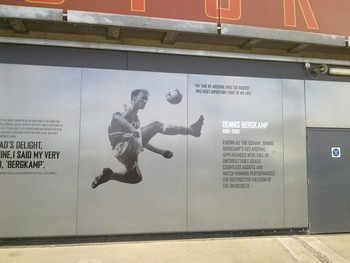 Dennis Bergkamp is just one of many Arsenal greats featured outside the stadiuum