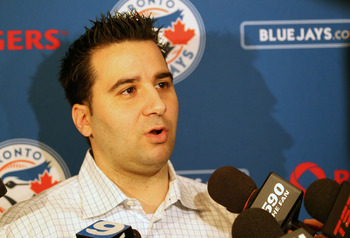 The man of the hour: Blue Jays GM Alex Anthopoulos.