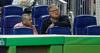 Marlins owner Jeffrey Loria (R) has some 'splaining to do.