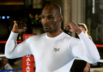 LAS VEGAS - MARCH 30:  Boxer Bernard Hopkins poses as he works out at the Mandalay Bay Resort & Casino March 30, 2010 in Las Vegas, Nevada. Hopkins will face Roy Jones Jr. in a light heavyweight bout on April 3 in Las Vegas.  (Photo by Ethan Miller/Getty