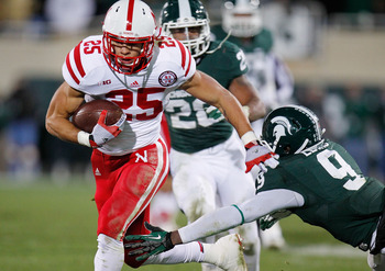 Michigan State's defense was unable to stop Nebraska on the ground.