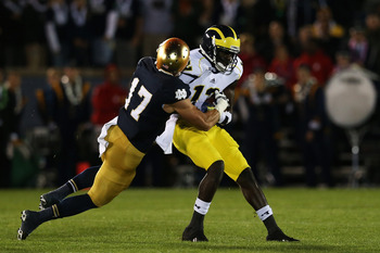 Michigan's Devin Gardner picked up 2 scores through the air and another 2 on the ground while filling in for Denard Robinson last week.