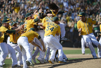 The A's are AL West division winners.