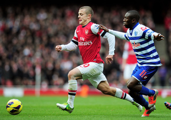 Wilshere gets away from Shaun Wright-Phillips