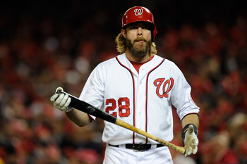 Jayson Werth hardly contributed to the first-place Nationals last season