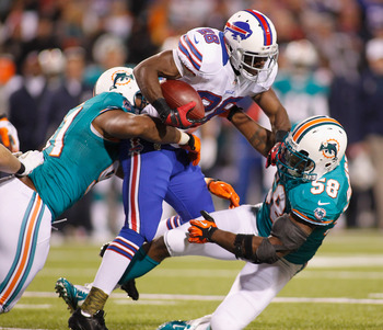 C. J. Spiller kept the chains moving with his runs.