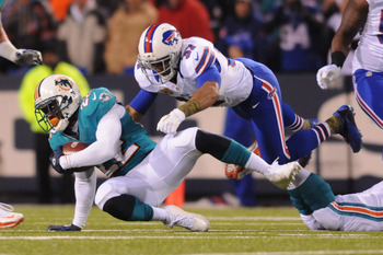 In the third quarter, Reggie Bush had seven carries for no yards.