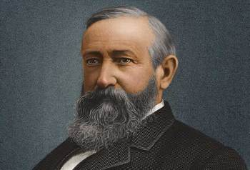 Benjamin Harrison didn't let the Presidency get in the way of a good baseball game