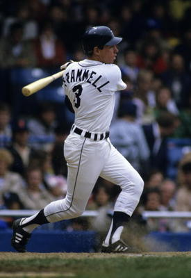 Alan Trammell.  Ronald C. Modra/Sports Imagery