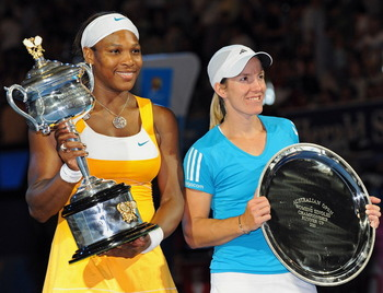 2010 Serena wins the only Grand Slam Final encounter with rival Justine Henin