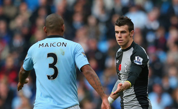 Maicon and Bale: Manchester City vs. Tottenham Hotspur
