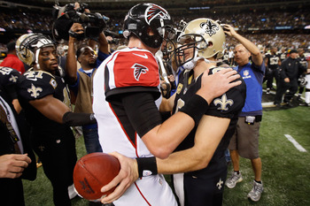 Matt Ryan and Drew Brees put on a good show in Week 10.